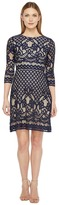 Christin Michaels Maxine 3/4 Sleeve Lace Dress Women's Dress
