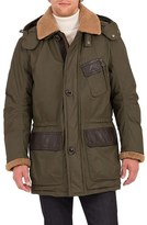 Rainforest Daviston Water Resistant Parka with Genuine Shearling Trim