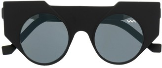 Va Va Structured Round-Frame Sunglasses