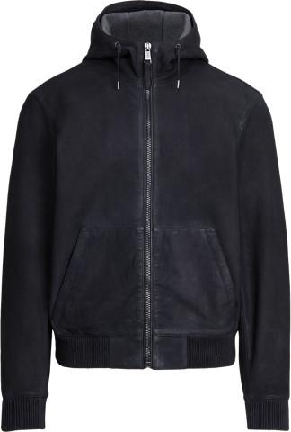 Ralph Lauren Bonded Suede Hooded Jacket