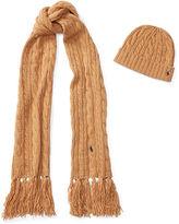 Polo Ralph Lauren Aran-Knit Scarf & Hat Gift Set