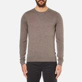 Michael Kors Men's Merino Crew Neck Jumper Taupe