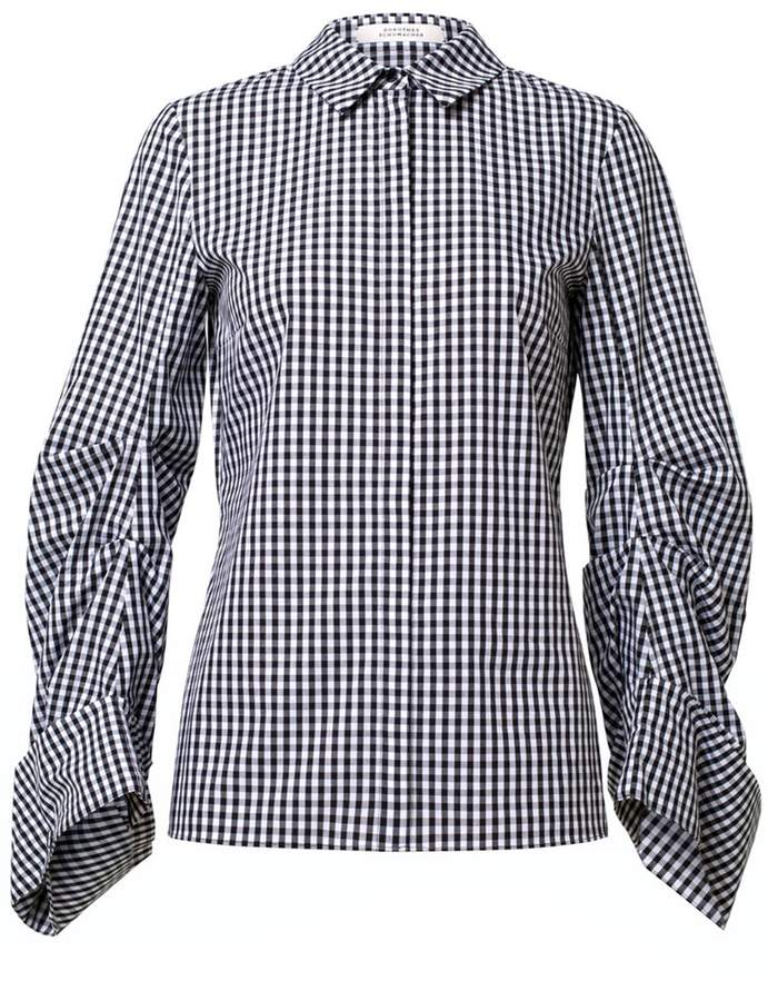 Schumacher Dorothee Vichy Perfection Blouse in Pure Black