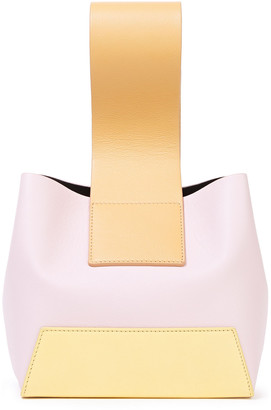 Yuzefi Tab Textured-leather Tote