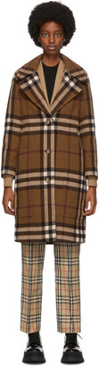 Burberry Brown Check Purton Coat