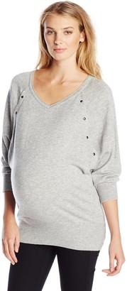 Ripe Maternity Women's Maternity Lambswool Long Sleeve Nursing Sweater