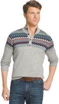 Izod Big & Tall Classic-Fit Fairisle Henley Sweater