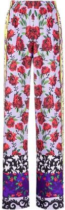 Alice + Olivia Elba floral wide-leg trousers