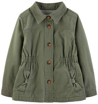Carter's Simple Joys By Simple Joys by Girls' Toddler Twill Button up Jacket