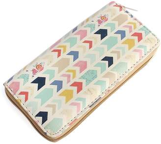 Riah Fashion Chevron Print Zipper Wallet
