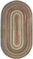 Capel Area Rug, Bear Creek Oval Braid 0980-150 Wheat 7' x 9'