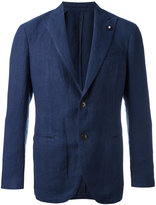 Lardini classic lightweight suit jacket - men - Hemp/Polyester - 46