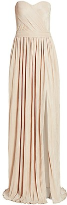 Jonathan Simkhai Rory Strapless Cross Front Dress