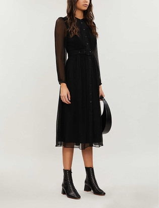 Whistles Chiffon midi dress