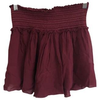 Isabel Marant Burgundy Silk Skirts
