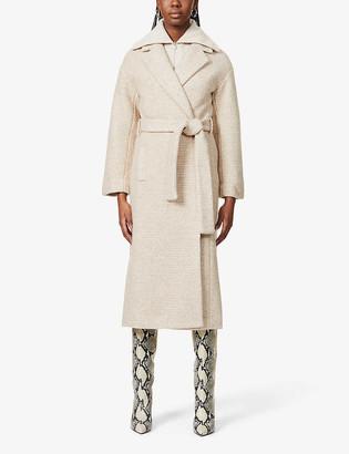 Reformation Gooding tie-belt wool-blend coat