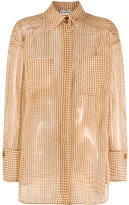 Fendi Vichy organza shirt