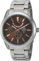 Orient Men's 'Regent' Japanese Automatic Stainless Steel Dress Watch, Color:Silver-Toned (Model: FEZ08002T0)