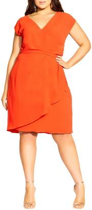 City Chic Classic Wrap Dress