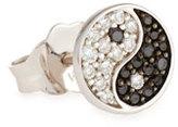 Sydney Evan Yin Yang Stud Earring with Diamonds