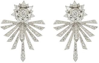 YEPREM 18kt White Gold Diamond Earrings