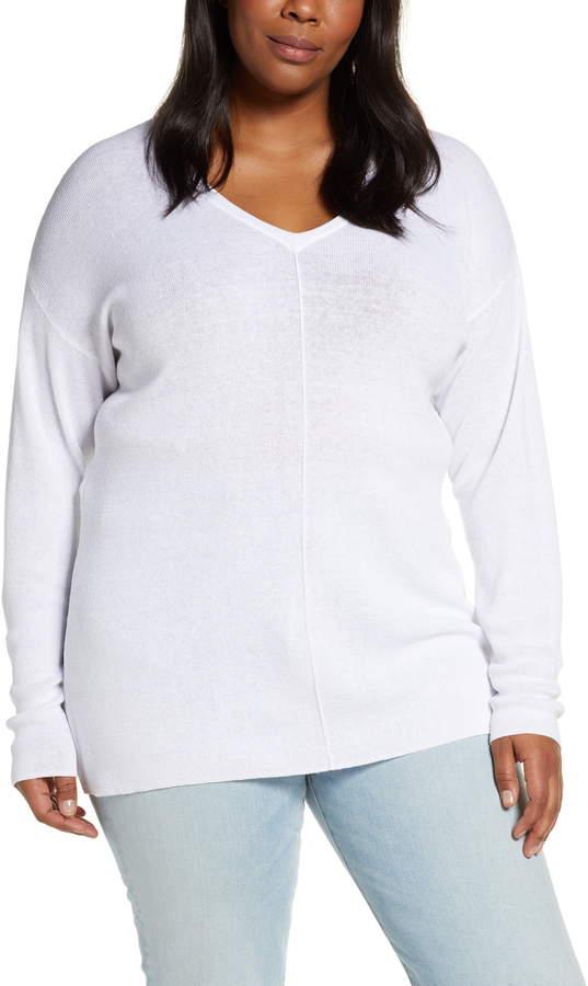 Caslon V-Neck Linen Blend Sweater