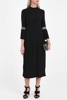 Vilshenko Open-Back Pleated Dress