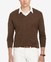 Polo Ralph Lauren Men's V Neck Pima Herringbone Sweater