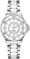 TAG Heuer Women's Swiss Automatic Formula 1 Diamond (1/2 ct. t.w.) White Ceramic and Stainless Steel Bracelet Watch 37mm WAU2213.BA0861