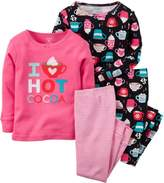 Carter's Baby Girls 4-pc. Hot Cocoa Pajama Set