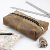 STUDY Scaramanga Leather Pencil Case
