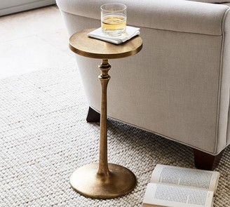 "Pottery Barn Round 9.5"" Metal Cocktail Table"