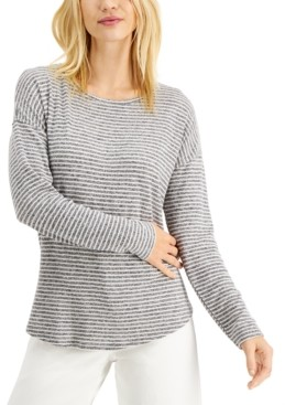 Style&Co. Style & Co Striped Long-Sleeve Top, Created For Macy's