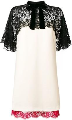 Gucci lace panels short dress