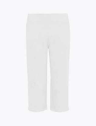 Marks and Spencer Cotton Straight Leg Cropped Jogger