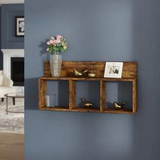 Andover Mills Willem Triple Cubed Wall Shelf Finish: Brown