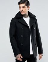 Schott Cyclone Wool Peacoat Detachable Fleece Collar