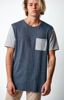 On The Byas Raglan Blue Pocket T-Shirt