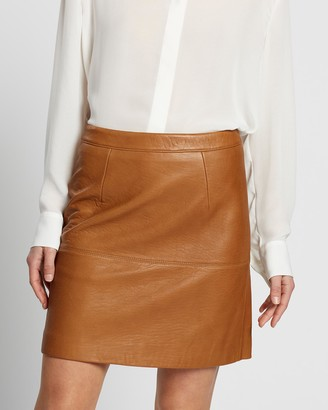 SABA Women's Leather skirts - Lilia Leather Mini Skirt - Size One Size, 4 at The Iconic