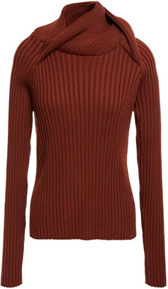 Y/Project Ribbed Merino Wool-blend Turtleneck Sweater