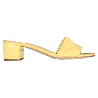 Mansur Gavriel Yellow Suede Sandals
