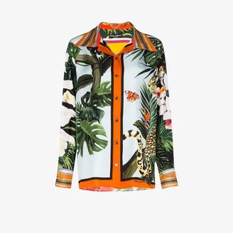 Dolce & Gabbana Leopard And Giraffe Print Shirt