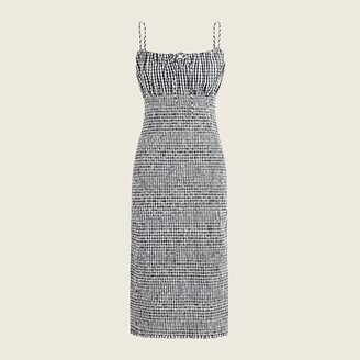 J.Crew Smocked tie-front dress in gingham
