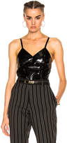 Zeynep Arcay Patent Leather Bodysuit