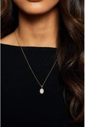 Quiz Gold Plated Diamante Love Pendant Necklace