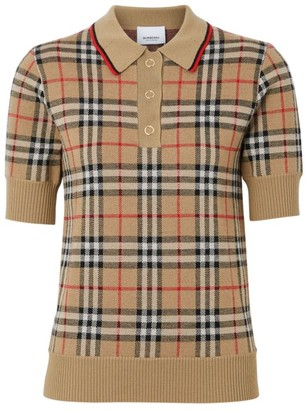 Burberry Archive Check Merino Wool Sweater