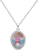 Peppa Pig Cubic Zirconia & Silvertone 'Peppa' Pendant Necklace