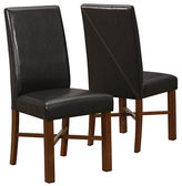 Monarch Two-Piece Modern Oak Dining Chairs