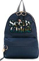 See by Chloe logo backpack - women - Cotton/Polyester - One Size
