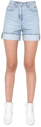 MSGM High-Waist Denim Shorts